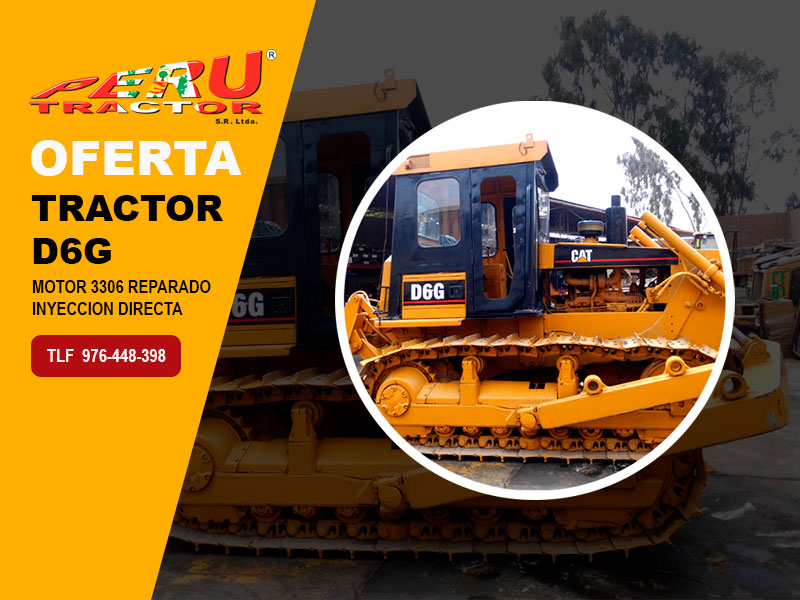 TRACTOR D6G MOTOR 3306 INY. DIRECTA CON RIPPER